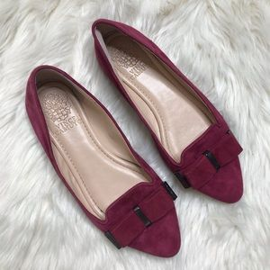 Vince Camuto Red Rowley Suede Point Flats
